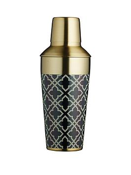 kitchen-craft-barcraft-art-deco-brass-finish-650-ml-cocktail-shaker
