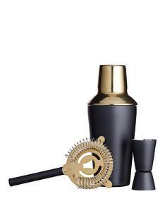 kitchen-craft-barcraft-3-piece-black-and-brass-cocktail-making-set