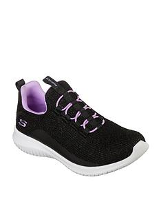 skechers-girlsnbspultra-flex-slip-on-trainer-black