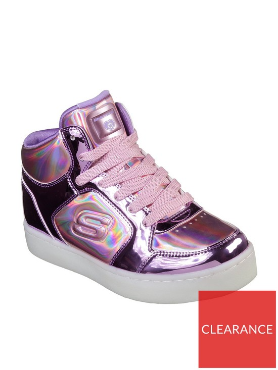 Skechers Girls S-Lights Energy Lights  Lil Dazzle  High Top Trainers -  watch them light up!  19a2763d7a7
