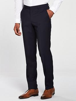 HUGO Slim Fit Suit Trouser, Dark Blue, Size 30, Inside Leg Regular, Men thumbnail