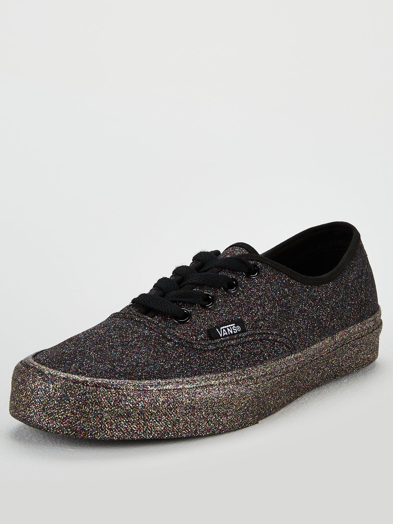 vans black glitter