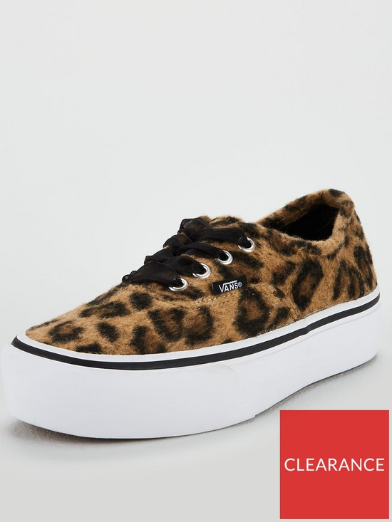 Vans Authentic Leopard Platform 2.0 - Brown White  bb43e2aa8