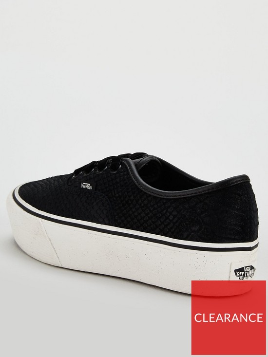 Vans Authentic Snake Platform 2.0 - Black White  6c45e9de3