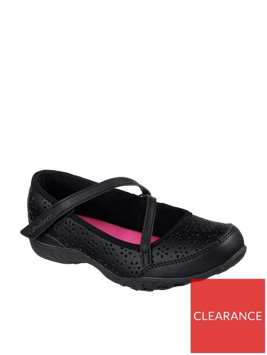 d108b5584f91 Skechers Girls Breathe Easy Playground Poppies Shoe - Black