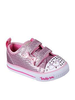 skechers-skechers-twinkle-toes-sequin-two-strap-plimsoll