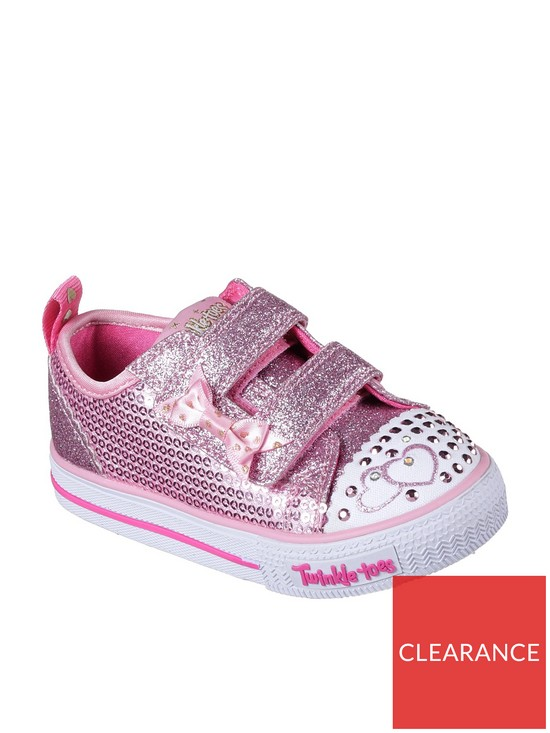 92af8e8ad31 Skechers Skechers Twinkle Toes Shuffles  Itsy Bitsy  Plimsoll - Pink ...