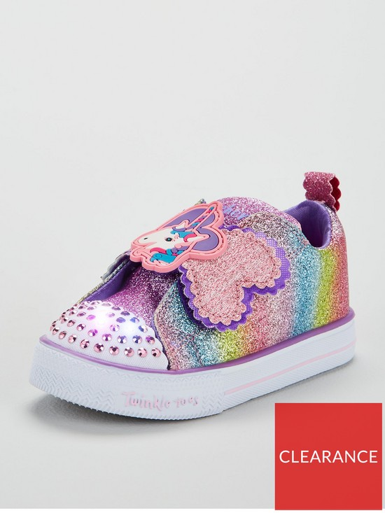 76ebb3663ae7 Skechers Girls Twinkle Toes Shuffles Lite  Sparkle Pals  Trainers - Multi  Coloured