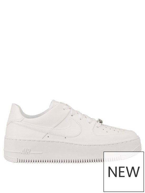 online store f82b9 624a6 Air Force 1 Sage - White