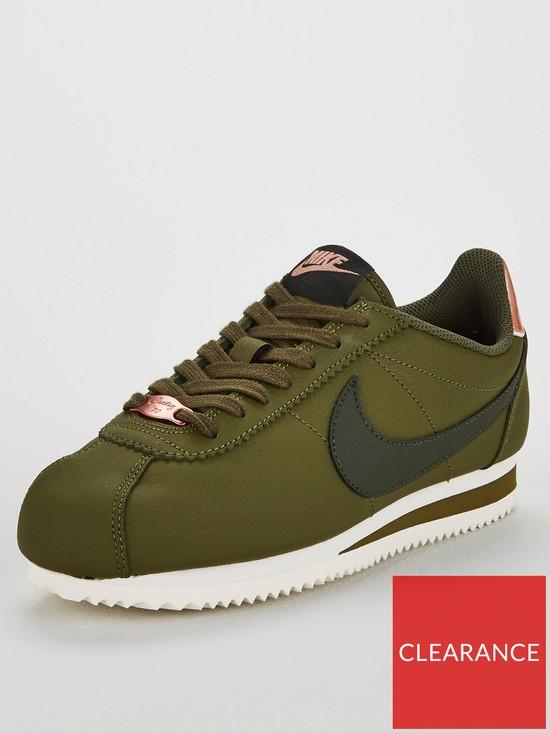 83b3923f9c1bb Nike Classic Cortez Leather - Olive White