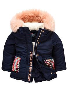 mini-v-by-very-girls-sequin-pocket-parka-navy