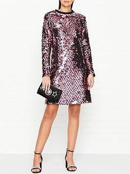 mcq-alexander-mcqueen-all-over-sequin-long-sleeve-dress--nbspmulticolour
