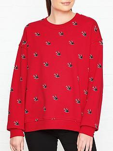 mcq-alexander-mcqueen-swallownbspprint-slouch-sweatshirt-red