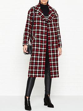 mcq-alexander-mcqueen-oversized-check-casualnbspcocoon-coat-red