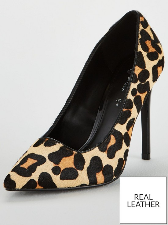 8cb5ca339bd V by Very Carly Leather High Point Court Shoe - Leopard Print