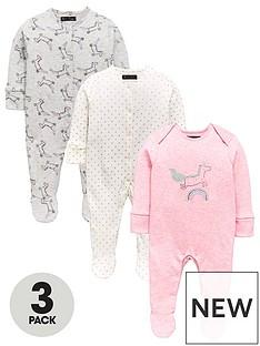 mini-v-by-very-baby-girls-3pk-unicorn-sparkle-sleepsuits