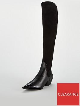 v-by-very-inaya-point-western-stretch-knee-boot-black