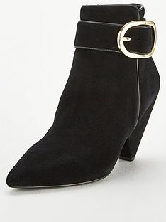 v-by-very-farida-leather-cone-heel-ankle-boot-black