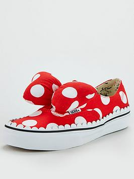 Vans Disney Minnie Bow Authentic - Red/White