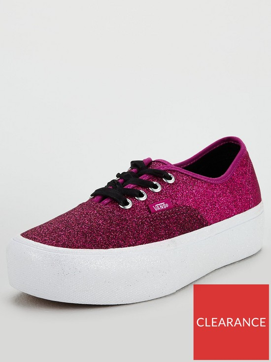 Vans Authentic Glitter Platform 2.0 - Pink White  8b5b5f0a7