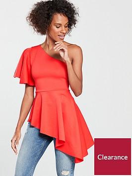 v-by-very-asymmetric-top-orange