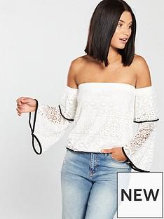 v-by-very-lace-bardot-tipping-top-whiteblack