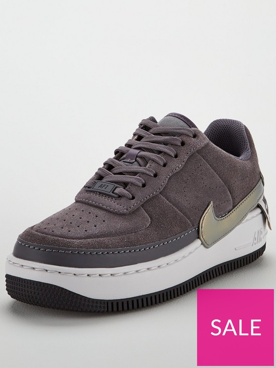 dc278934f289c Nike Air Force 1 Jester - Grey   very.co.uk