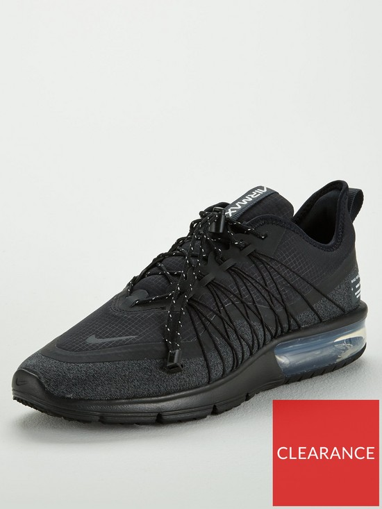detailed look 6060a f9e0a Nike Air Max Sequent 4 Utility - Black Grey