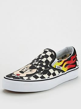 Vans Disney Mickey &Amp; Minnie Checker Flame Slip-On - Multi