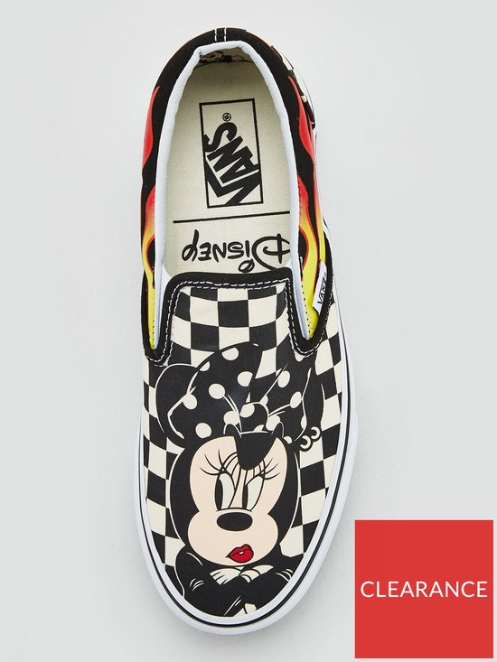 eec42afd58 ... Vans Disney Mickey   Minnie Checker Flame Slip-On - Multi. View larger