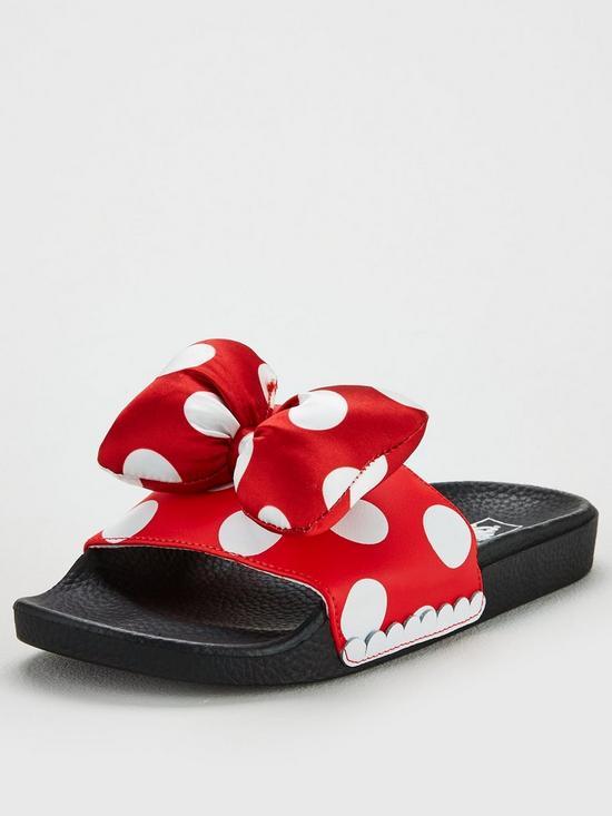 257b8aaf2173 Vans Disney Minnie Bow Slide-On - Red