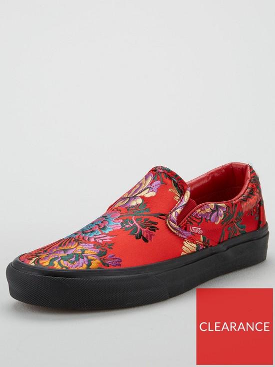 674e9881fa2 Vans Festival Satin Classic Slip-On - Red Black