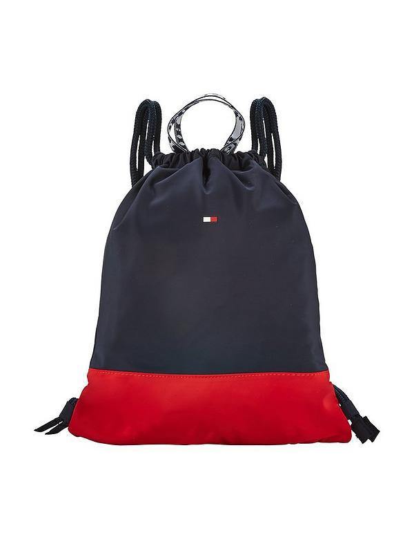 77c4d8712f5 Tommy Hilfiger Varsity Drawstring Bag - Navy | very.co.uk