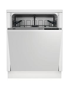 Beko DIN15211 12-Place Fullsize Integrated Dishwasher - Stainless steel Best Price, Cheapest Prices