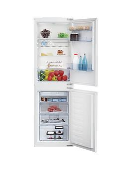 Beko Bcsd150 54Cm Wide Integrated Fridge Freezer - White - Fridge Freezer Only