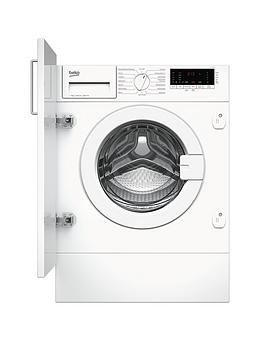 Beko Wiy72545 7Kg Load, 1200 Spin Built-In Washing Machine - White - Washing Machine Only