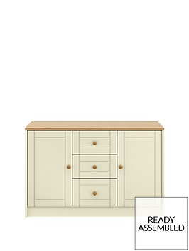 alderleynbsplarge-ready-assembled-sideboard--nbspcreamoak-effect