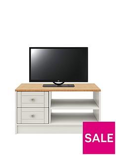 AlderleyReady Assembled TV Unit -Grey/Oak Effect - fits up to 48 inch TV