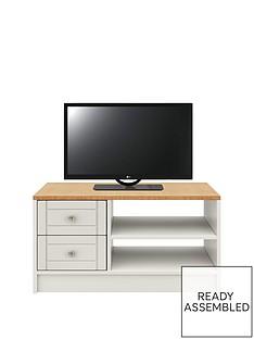 AlderleyReady Assembled TV Unit -Grey/Oak Effect - fits up to 50 inch TV