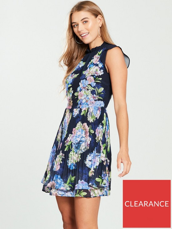 4ccfc133c0 Oasis Hydrangea Pleated Skater Dress - Print