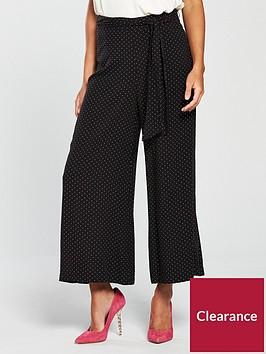 oasis-spot-print-wide-leg-trouser-black
