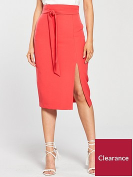 oasis-high-waist-pencil-skirt-coralnbsp