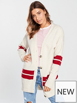v-by-very-oversized-button-through-stripe-cardigan-cream