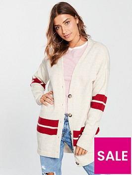 v-by-very-oversized-button-through-stripe-cardigan-cream