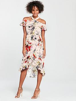 oasis-oasis-placement-ditsy-halter-bardot-midi-dress
