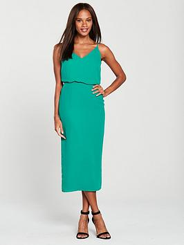 oasis-column-tie-back-midi-dress-green