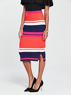 oasis-stripe-knitted-skirt