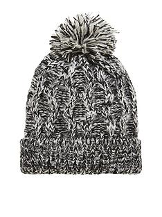 v-by-very-black-white-cable-bobble-hat