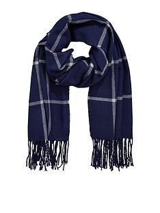 v-by-very-navy-check-scarf