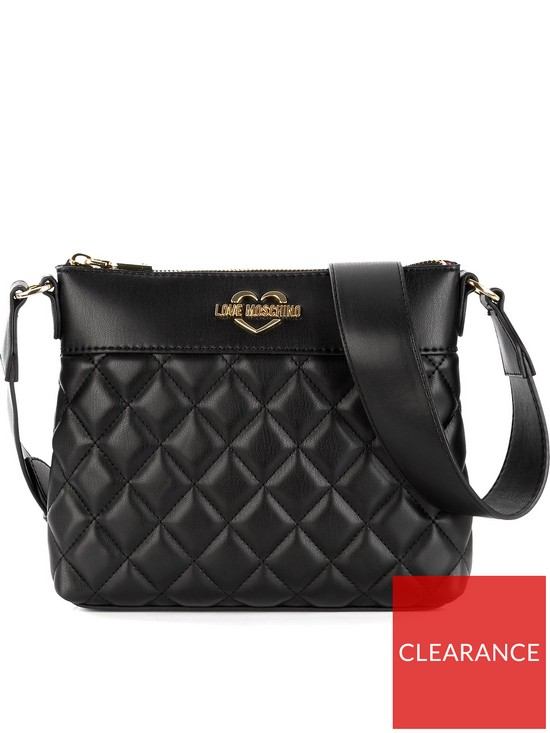3061d2beb LOVE MOSCHINO Quilted Logo Cross-Body Bag - Black | very.co.uk